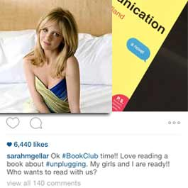 sarah michelle gellar picks Love and Miss Communication for her book club