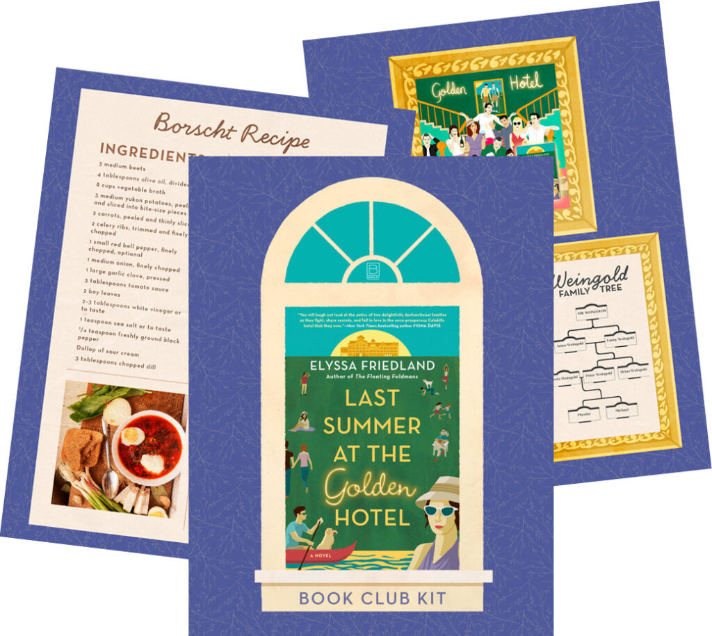 Last Summer at the Golden Hotel Bookclub Kit